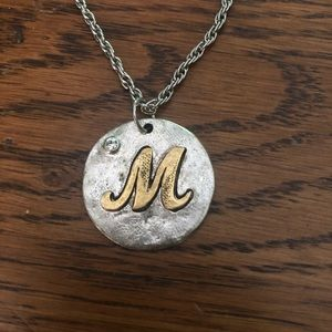 """Jewelry - Letter """"M"""" Initial Necklace"""